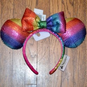 DISNEY MINNIE MOUSE SEQUIN RAINBOW HEADBAND EARS